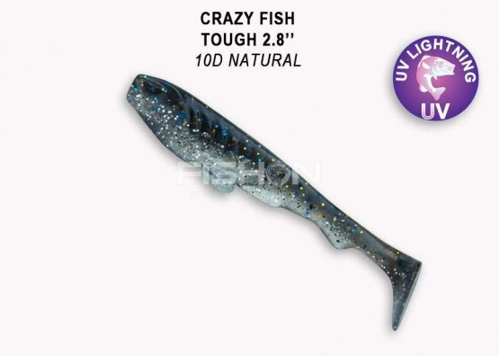 Gumová nástraha Crazy Fish Tough 2.8