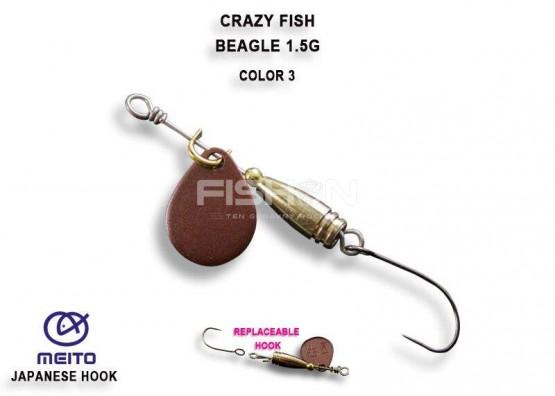 Třpytka Crazy Fish Beagle 1.5g