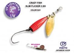 Třpytka Crazy Fish Fish Slim Fleacker 2.9g