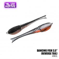 """Pěnová nástraha Prof Montazh Dancing Fish 3.5"""" (reverse tail)"""