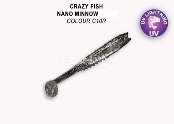 Gumová nástraha Crazy Fish Nano Minnow 3.5
