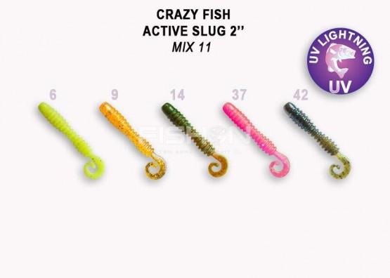 Gumová nástraha Crazy Fish Active Slug 2