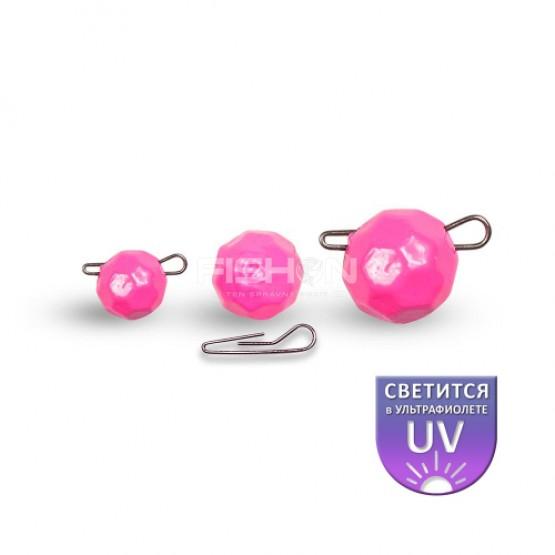 Olověná zátěž Dnipro Lead Fishball pink luminescent
