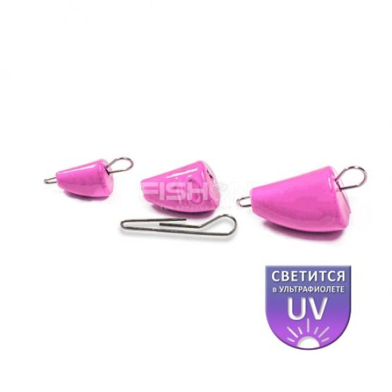 Olověná zátěž Dnipro Lead Bullet Active pink luminescent