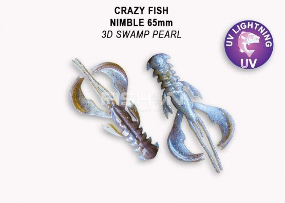 Gumová nástraha Crazy Fish Nimble 2.5