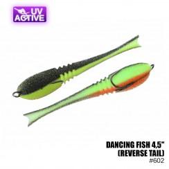 """Pěnová nástraha Prof Montazh Dancing Fish 4.5"""" (reverse tail)"""