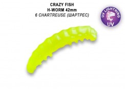 Gumová nástraha Crazy Fish MF H-worm 1.65""