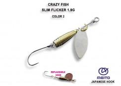 Třpytka Crazy Fish Slim Fleacker 1.9g