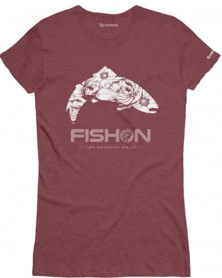 Simms Wms Flora Trout T-shirt