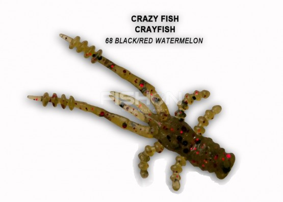 Gumová nástraha Crazy Fish Crayfish 1.8