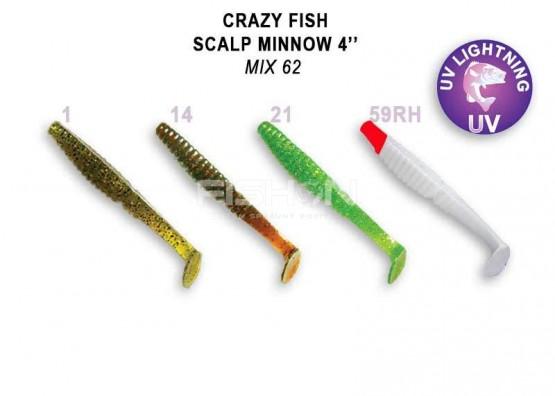 Gumová nástraha Crazy Fish Scalp Minnow 4