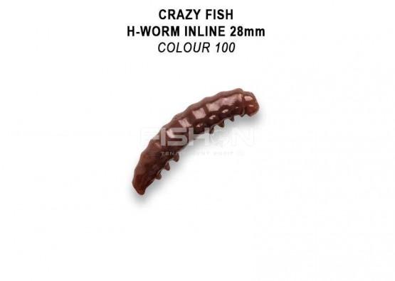 "Gumová nástraha Crazy Fish MF H-worm inline 1.1"""