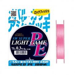 Šňůra Yamatoyo PE Light Game Flash Pink
