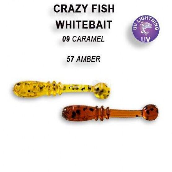 Gumová nástraha Crazy Fish Whitebait 0.8