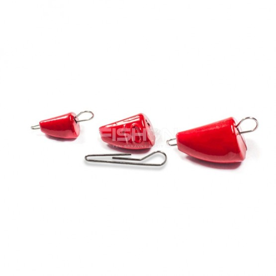 Olověná zátěž Dnipro Lead Bullet Active red